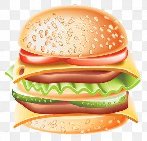 Big Hamburger Clipart - Hamburger Whopper Hot Dog Cheeseburger Clip Art PNG