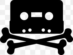Cassette Cliparts - Jolly Roger Compact Cassette Piracy Clip Art PNG