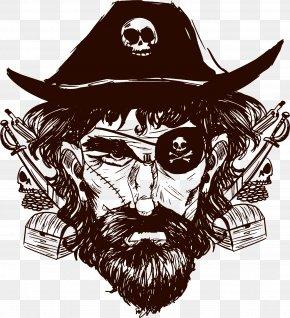 Hand Painted Pirate Captain - Piracy Vecteur PNG