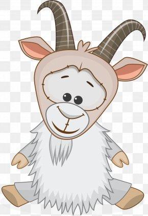 Vector Cartoon Goat - Goat Alpine Ibex Sheep Clip Art PNG