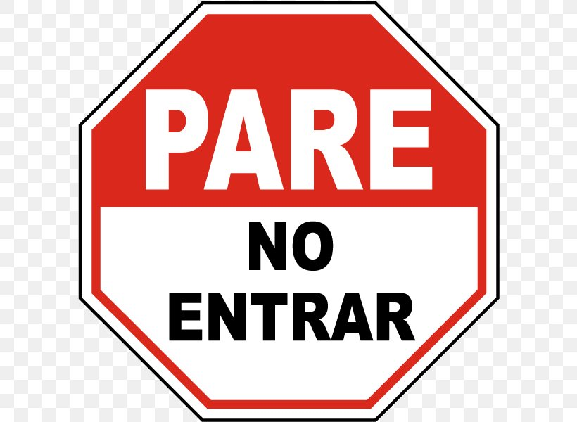 Spanish Stop Sign Clip Art, PNG, 600x600px, Spanish, Area, Brand, English, Information Download Free