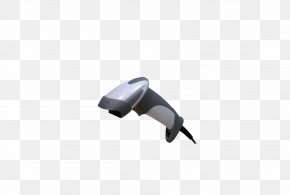 Silver Black Hand-held Cable Handle - Barcode Reader Image Scanner Mobile Device PNG