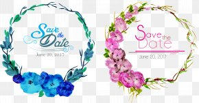 Vector Hand-painted Flower Borders - Wedding Invitation Flower Euclidean Vector Clip Art PNG