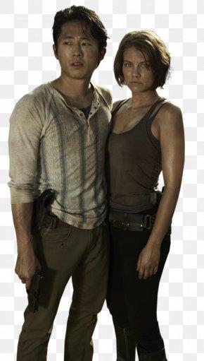 TWD Pic - Steven Yeun Lauren Cohan The Walking Dead Glenn Rhee Maggie Greene PNG