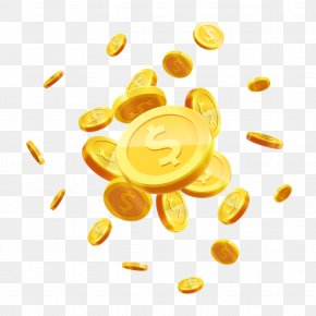Flying Scattered Gold Coin Vector Material - Gold Coin Stock Photography Royalty-free PNG