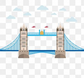 London Bridge Bridge Cartoon Clouds Creative - London Bridge Tower Bridge Big Ben London Eye PNG