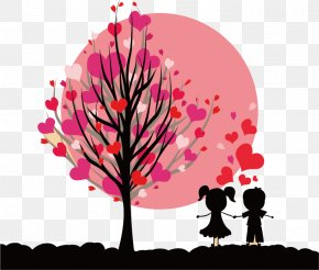Tree Of Hearts And Love For Children - Month February Love Happiness PNG