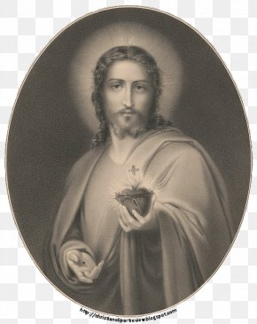Sacred Heart Of Jesus - Portrait Of A Young Man Work Of Art Charlotte Of Mecklenburg-Strelitz PNG