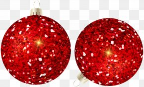 Christmas Balls Red Clip Art Image PNG