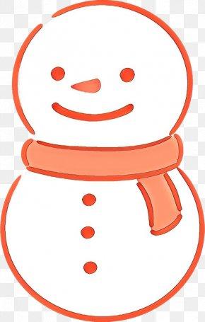 Line Art Smile - Orange PNG