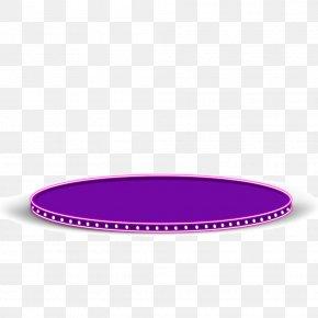 Purple Round Table - Purple Pattern PNG