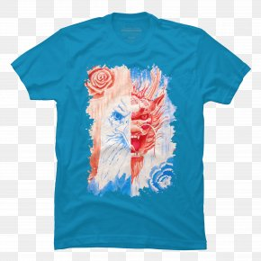 T-shirt - T-shirt Watercolor Painting Canvas India Ink PNG