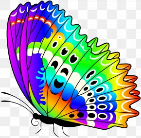 Colorful Butterfly Transparent Clip Art Image - Monarch Butterfly Clip Art PNG