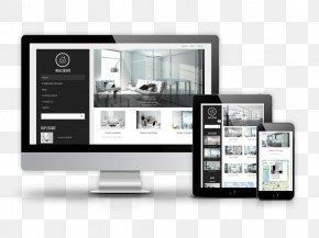 Web Design - Responsive Web Design Real Estate Web Template System Website PNG