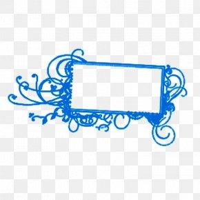 Blue Vine Pattern Framework Chalk - Blue Chalk Line Clip Art PNG