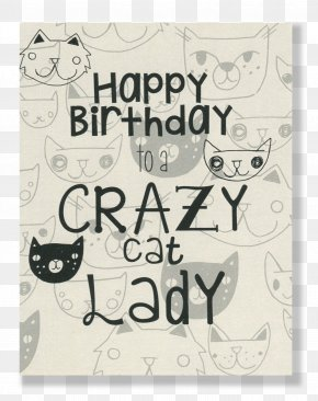 Cat - The Cat Lady Birthday Cake PNG