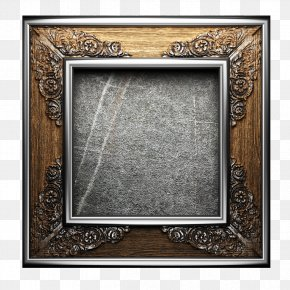 Vintage Silver Picture Frame - Picture Frame Photography Download PNG