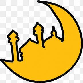 Stick Figure Moon Castle - Ramadan Symbols Of Islam Mosque Icon PNG