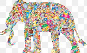 Painting - Painting Abstract Art Elephant Silhouette Clip Art PNG