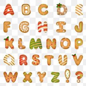 Christmas Crackers Letters Element - Santa Claus Christmas Cookie Alphabet PNG