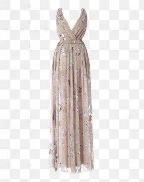 Dress - Neck Silk Stole Dress PNG