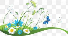 Flower Meadow - Banner Spring Illustration PNG