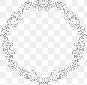 Line Frame - Line Art Decorative Arts Picture Frames Clip Art PNG
