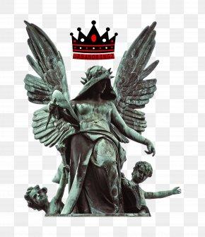 Angel Sculpture LOGO - Statue Fallen Angel Stock Photography Sculpture PNG