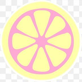 Lemon Slice - Variegated Pink Lemon Lemonade Juice Clip Art PNG