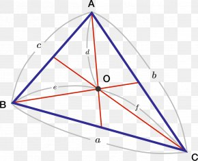 Red Triangle Geometry - Triangle Centroid Point Median PNG