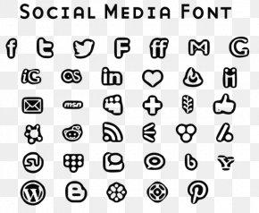 Social Media Icons Drawing - Social Media Font Awesome Download Font PNG