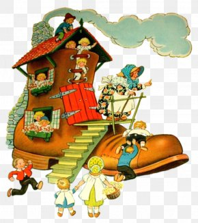 Nursery Rhymes - There Was An Old Woman Who Lived In A Shoe Mother Goose Nursery Rhyme PNG