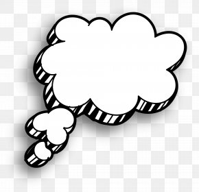 Hand Painted White Clouds And Clouds - White Cloud Speech Balloon Drawing PNG