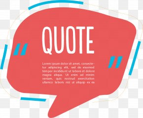 Red Quote Text Box - Dialog Box Text Box PNG
