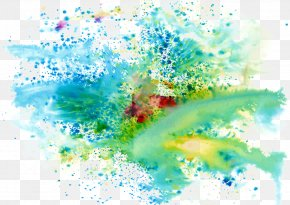Cool Colors Splash Paint Color Background - Ink Color PNG