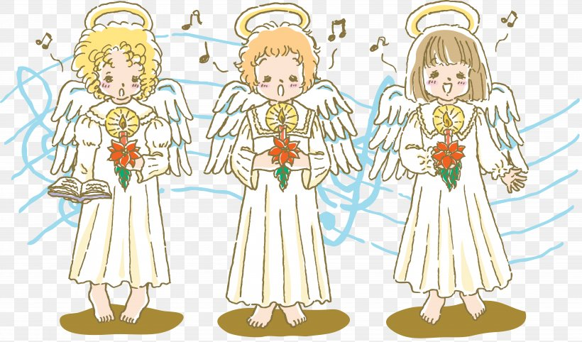 Christmas Singing Angel Clip Art Png 7197x4239px Watercolor Cartoon Flower Frame Heart Download Free
