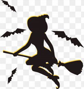Flying Witches - Halloween Witch Poster PNG