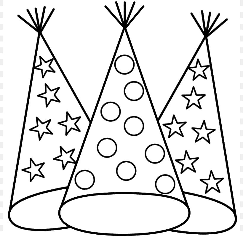 new years eve coloring book new years day party hat png 800x800px new year area baby party hat png 800x800px