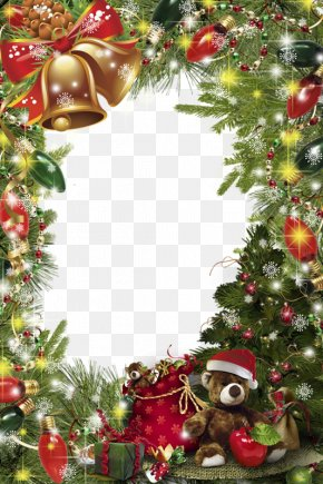 Christmas Door Decoration - Christmas Decoration Picture Frame Christmas Ornament PNG