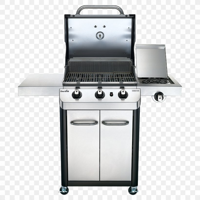 Barbecue Char-Broil Signature 4 Burner Gas Grill Propane Grilling, PNG, 1000x1000px, Barbecue, Broil King Signet 320, Charbroil, Fire Magic Echelon Diamond E1060s, Gas Download Free
