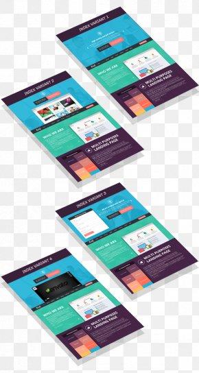 Design - Responsive Web Design Landing Page Template Web Page PNG