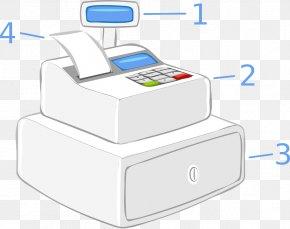 Cash Register - Clip Art Cash Register Currency-counting Machine Money PNG
