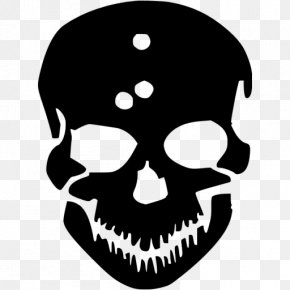 Skull Black - Human Skull Symbolism Decal Sticker Skull And Crossbones PNG