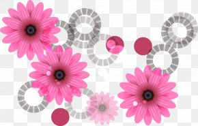 Purple Flowers Gray Circle Pattern - Price Tag Sales Sticker Label PNG