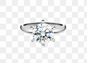 Platinum Diamond Ring - Wedding Ring Diamond Jewellery PNG