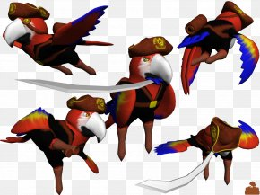 Pirate Parrot - Beaver Polygon Clip Art PNG