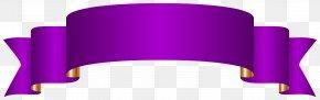 Purple Banner Transparent Clip Art Image - Banner Paper Clip Art PNG
