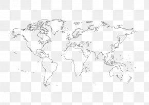 World Map - World Map Globe Blank Map PNG