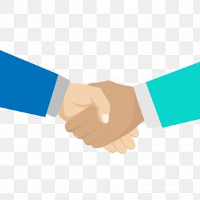 Blue Business Handshake PNG