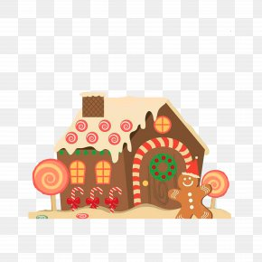 Fairy Tale Candy House - Gingerbread House Wedding Invitation Christmas Gingerbread Man PNG